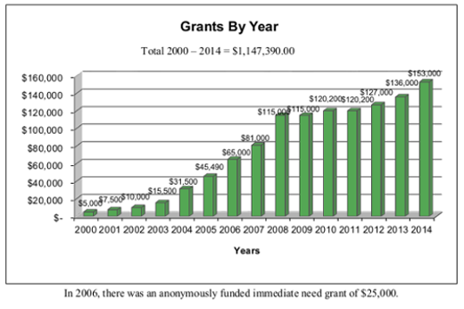 Grants by Year thru 2013